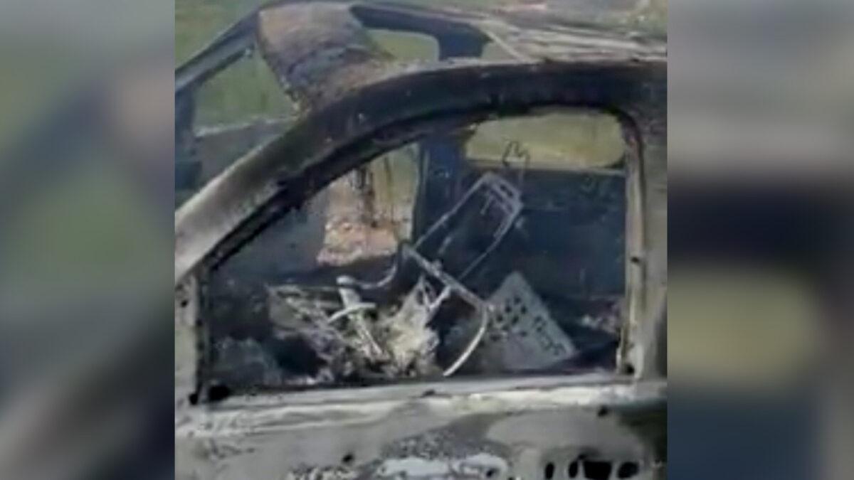 burnt car adjusted