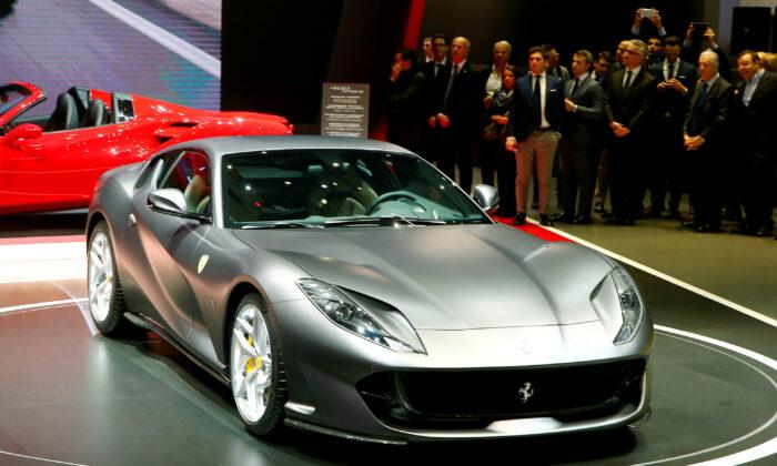 A Ferrari 812 Superfast is seen during the 87th International Motor Show at Palexpo in Geneva, Switzerland March 7, 2017. (Arnd Wiegmann/Reuters)