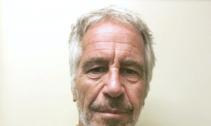 "This March 28, 2017, file photo, provided by the New York State Sex Offender Registry shows Jeffrey Epstein.  A judge denied bail for jailed financier Jeffrey Epstein on sex trafficking charges Thursday, July 18, 2019, saying the danger to the community that would result if the jet-setting defendant was free formed the ""heart of this decision."" (New York State Sex Offender Registry via AP)"