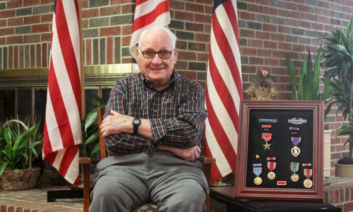 World War II veteran Bruno Stanga outside his home in Columbus, Ohio, on Nov. 3, 2019. (Courtesy of Neil Thompson)