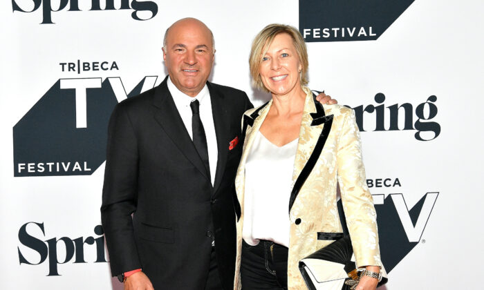 """Kevin O'Leary and Linda O'Leary attend the Tribeca Talks Panel: 10 Years Of """"Shark Tank"""" during the 2018 Tribeca TV Festival at Spring Studios on September 23, 2018 in New York City. (Dia Dipasupil/Getty Images)"""