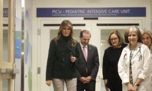 First Lady Melania Trump Visits Cuddling Program for Babies Born on Drugs