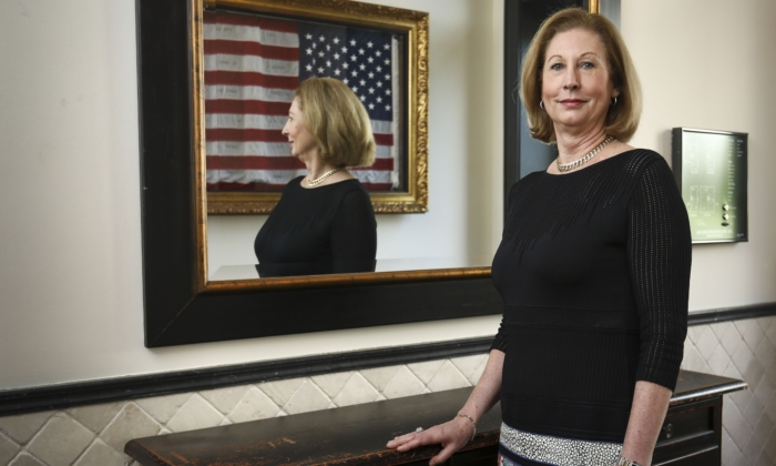 "Sidney Powell, author of the bestseller ""Licensed to Lie ""and lead counsel in more than 500 appeals in the Fifth Circuit, in Washington on May 30, 2019. (Samira Bouaou/The Epoch Times)"