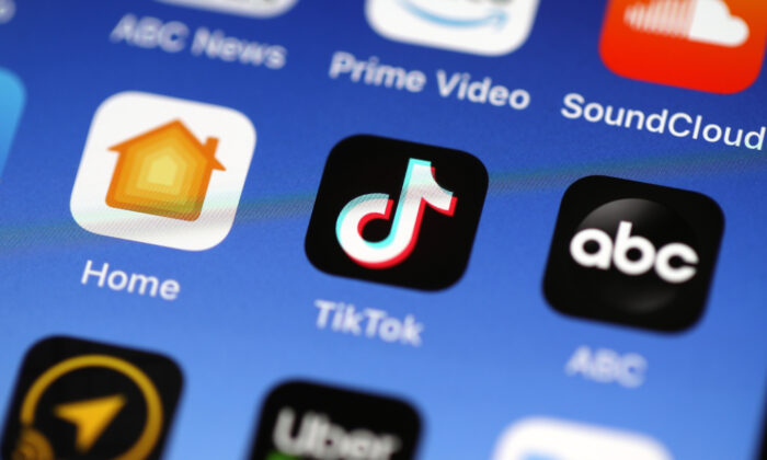 The Tik Tok app is displayed on an Apple iPhone in a file photo. (Justin Sullivan/Getty Images)
