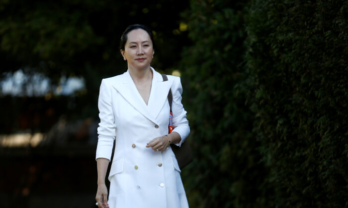 Huawei Technologies Chief Financial Officer Meng Wanzhou leaves her home to appear in British Columbia supreme court for a hearing, in Vancouver, British Columbia, Canada on Sept. 30, 2019. (Lindsey Wasson/Reuters)