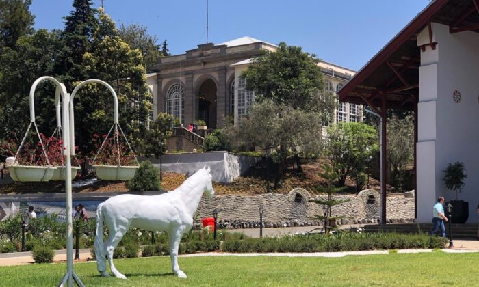 The newly opened Menelik Palace in Unity Park overlooking Addis Ababa, Oct. 25, 2019. (Thomson Reuters Foundation/Belinda Goldsmith)