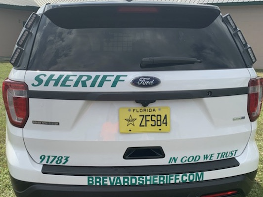 The rear of a Brevard County, Fla., Sheriff Department vehicle. (Courtesy Brevard County)