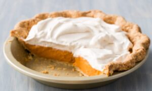 Make-Ahead Pumpkin Pie With Maple-Cinnamon Whipped Cream