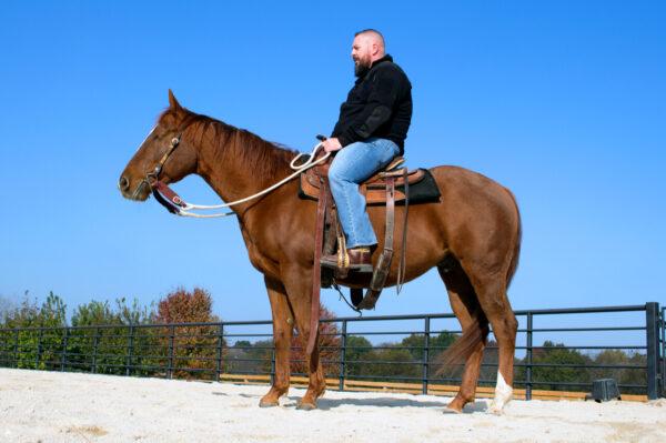 A veteran riding