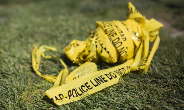 A bundle of police crime scene tape in a file photo. (Apu Gomes/AFP via Getty Images)