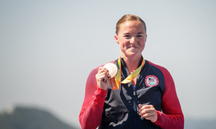 Melissa Stockwell is a United States Army veteran and paralympian. (USA Triathlon/Joe Kusumoto)