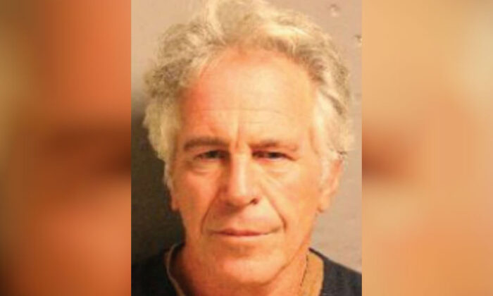 Jeffrey Epstein in a July 2019 mugshot. (Department of Justice)