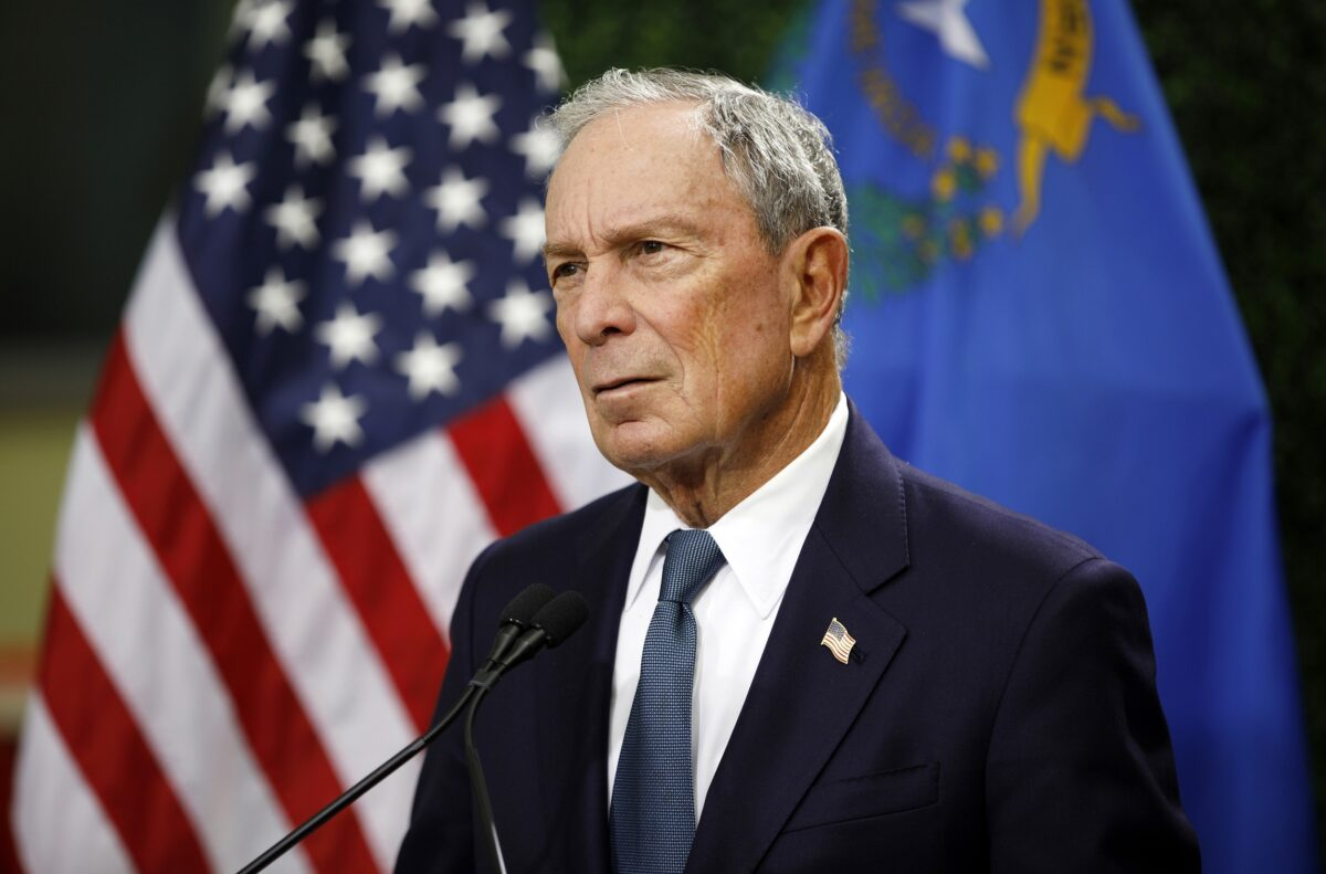 michael bloomberg files in arkansas