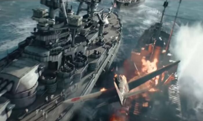 "A scene from ""Midway,"" which has tremendous CGI effects. (Lionsgate)"