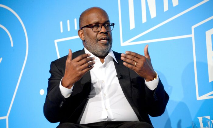"""Bernard J. Tyson speaks on stage at the """"Shaping the Future of Health Care: Affordability, innovation and Total Health at the Fast Company Innovation Festival - Day 2 on November 06, 2019 in New York City. (Photo by Brad Barket/Getty Images for Fast Company)"""
