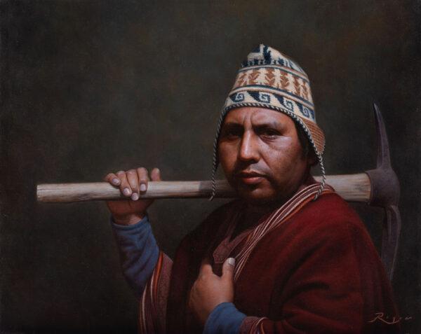 Obraz nazvaný Mezi generacemi. Autor Pablo Roque, olej na plátně, 80 x 65 cm. (S laskavým svolením Pabla Roque)