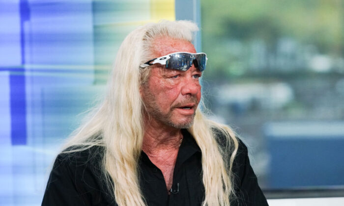 "TV personality Duane Chapman aka 'Dog the Bounty Hunter' visits ""FOX & Friends"" at FOX Studios in New York City on Aug. 28, 2019. (Bennett Raglin/Getty Images)"