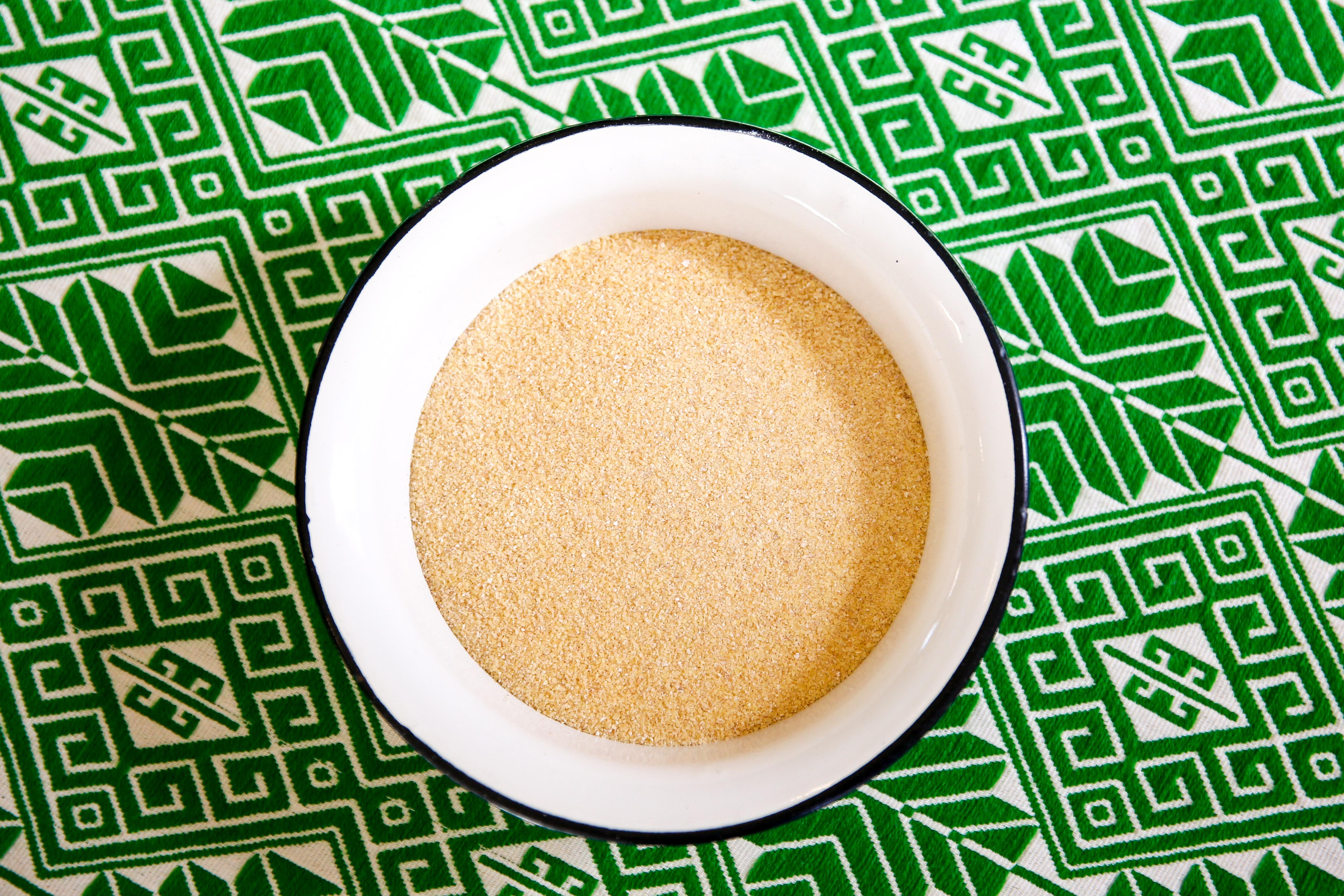 Freshly milled durum wheat semolina