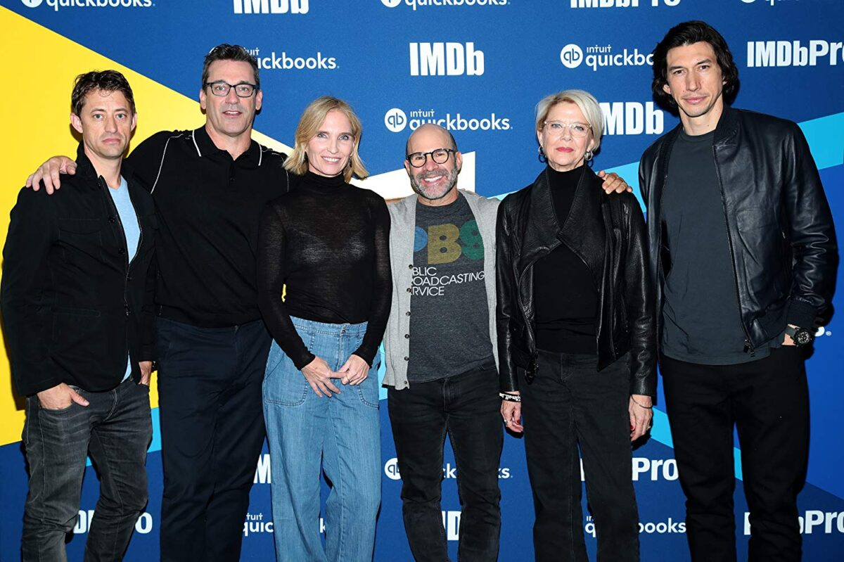 """The cast of """"The Report"""" at an event"""