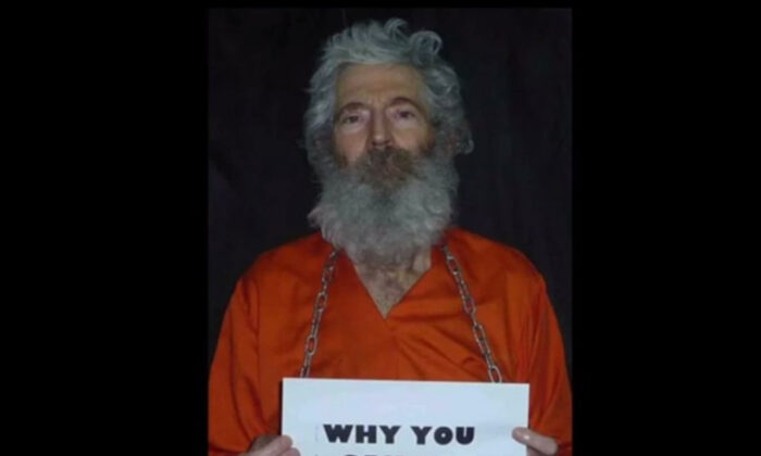 One of the photos released by ex-FBI agent Robert Levinson's family. (Screenshot taken from YouTube/The Epoch Times)