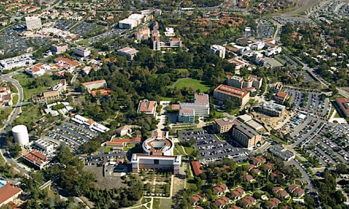 An aerial view of the University of California Irvine. (Complex01/Wikimedia[CC BY-SA 3.0 (ept.ms/2Bw5evC)])