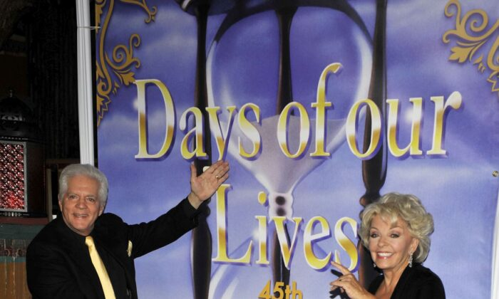 "Bill and Susan Hayes pose for a picture at the ""Days Of Our Lives"" 45th Anniversary Party held at The House Of Blues on November 6, 2010 in West Hollywood, California. (Photo by Toby Canham/Getty Images)"