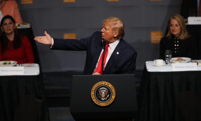 President Donald Trump speaks at the Economic Club of New York on November 12, 2019 in New York City. (Spencer Platt/Getty Images)