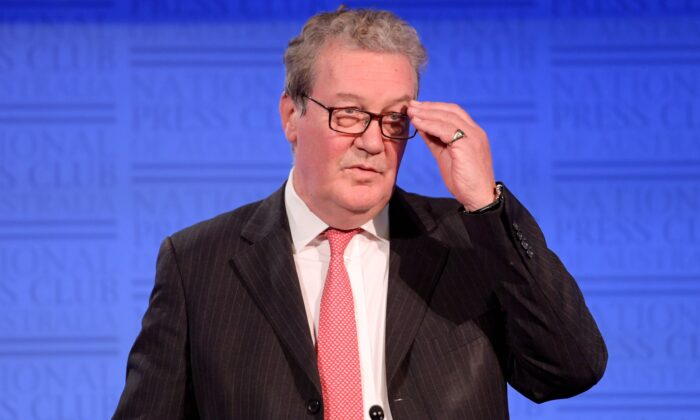 Former Australian Foreign Minister Alexander Downer in Canberra on Nov. 12, 2019. (Tracey Nearmy/Getty Images)