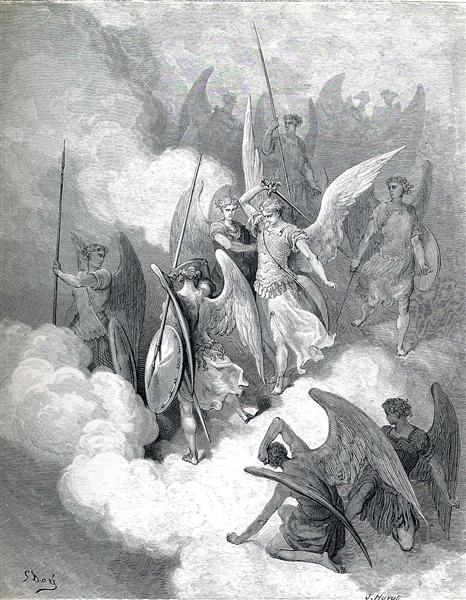 abdiel-and-satan by gustave dore