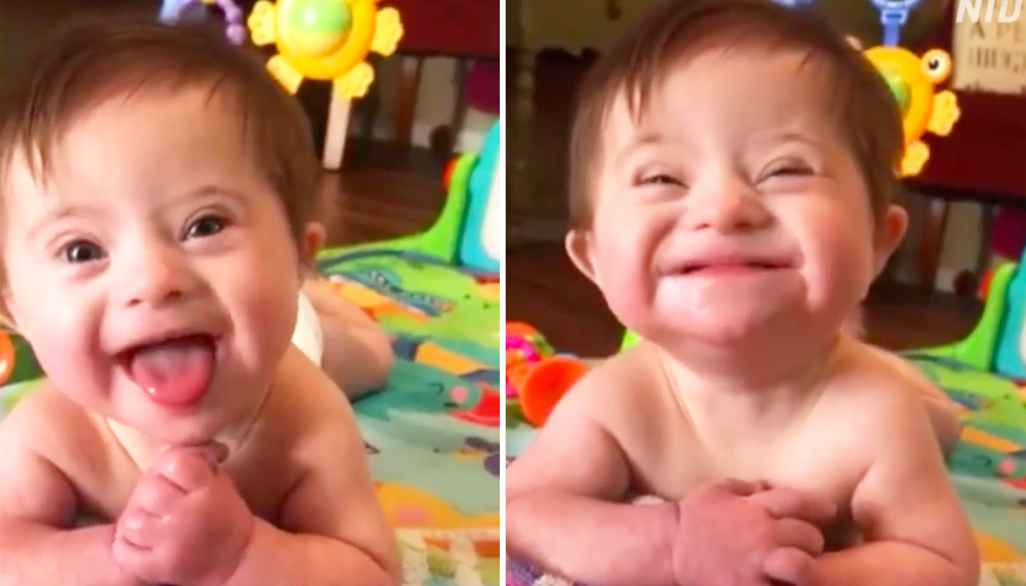 Adopted Baby Girl With Down Syndrome Smiles for New Mom in Heartwarming Clip That Goes Viral