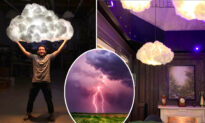Floating 'Cloud' Lampshades Bring Skies Into Your Home With 'Lightning' and 'Thunder'