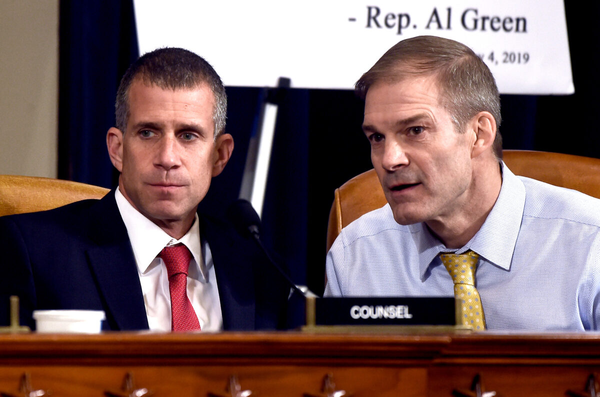 Rep. Jim Jordan (R-Ohio), and minority counsel Steve Castor