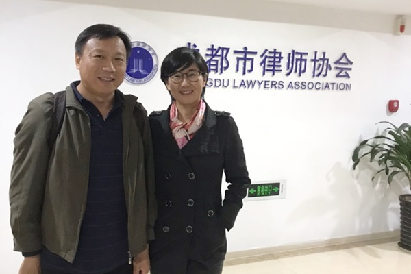 "Chinese human rights lawyer Wang Yu, acclaimed as the ""bravest female lawyer in China,"" and her husband Bao Longjun in this undated photo. Bao is also a lawyer and he supports Wang's human rights work wholeheartedly. (Courtesy of Wang Yu)"