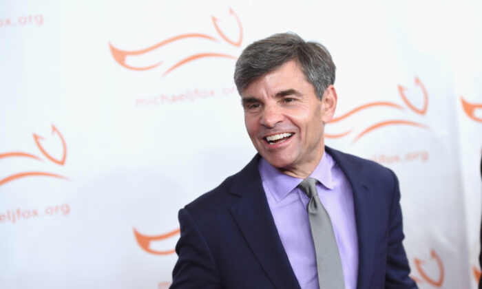 George Stephanopoulos in New York City in a 2017 file photograph. (Nicholas Hunt/Getty Images)