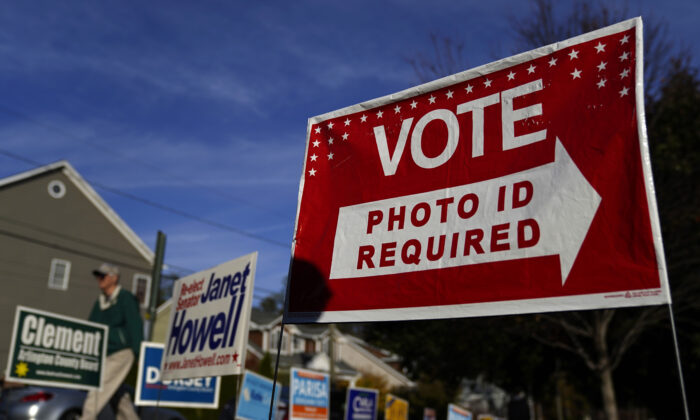 Virginia voters head to the polls at Nottingham Elementary School Nov. 5, 2019 in Arlington, Va. (Win McNamee/Getty Images)