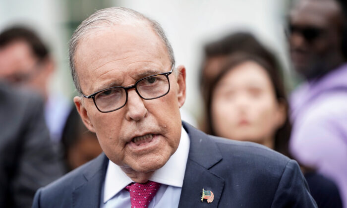 Director of the National Economic Council Larry Kudlow speaks to the media at the White House in Washington on Sept. 6, 2019. (Joshua Roberts/Reuters)