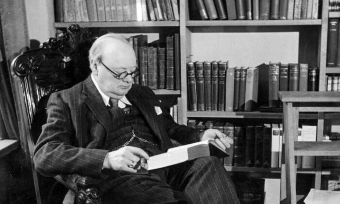 Winston Churchill (1874–1965), British statesman and prime minister (1940–1945, 1951–1955) at his home, Chartwell House, in Westerham, Kent, England, in 1939. (Topical Press Agency/Getty Images)