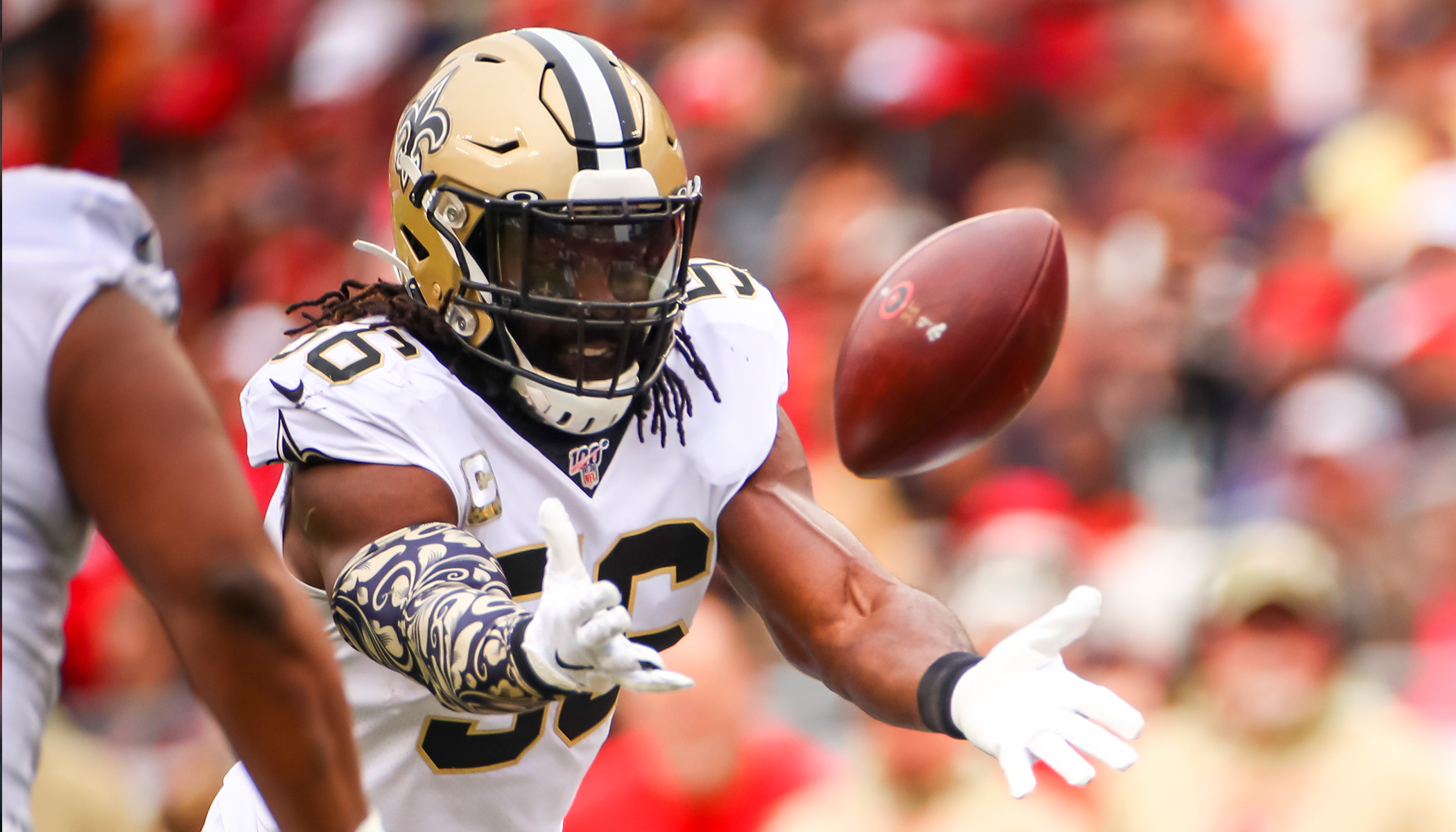 Saints Linebacker Fined by NFL for Wearing Headband With Words: 'Man of God,' but He Wins In a Big Way