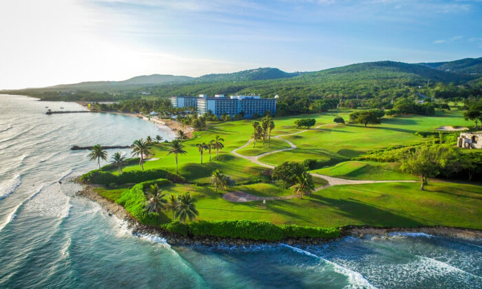 An aerial view of the Hilton Rose Hall Resort & Spa in Montego Bay, Jamaica. (Courtesy of Hilton Rose Hall Resort & Spa)