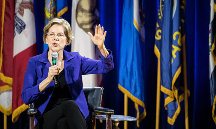 Democratic presidential candidate, Sen. Elizabeth Warren (D-MA) addresses the audience at the Environmental Justice Presidential Candidate Forum at South Carolina State University on Nov. 8, 2019 in Orangeburg, S.C. (Sean Rayford/Getty Images)