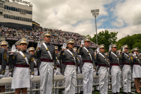 Cadets take the commissioning oath