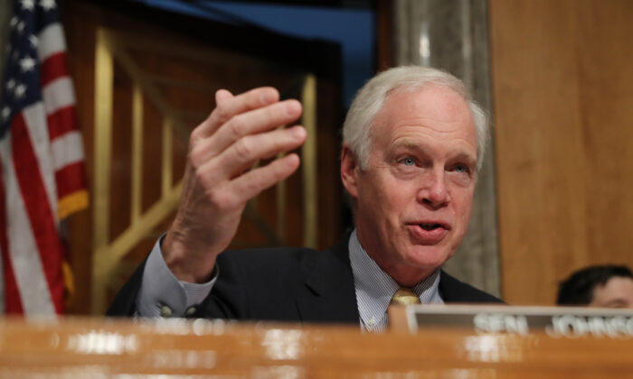 Senate Homeland Security and Governmental Affairs Chairman Ron Johnson (R-Wis.) at a hearing in Washington on Nov. 14, 2019. (Chip Somodevilla/Getty Images)