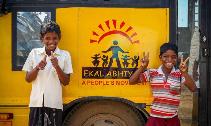 The Ekal Vidyalaya Foundation works to bring literacy and education to rural India. (Courtesy of the Ekal Vidyalaya Foundation)