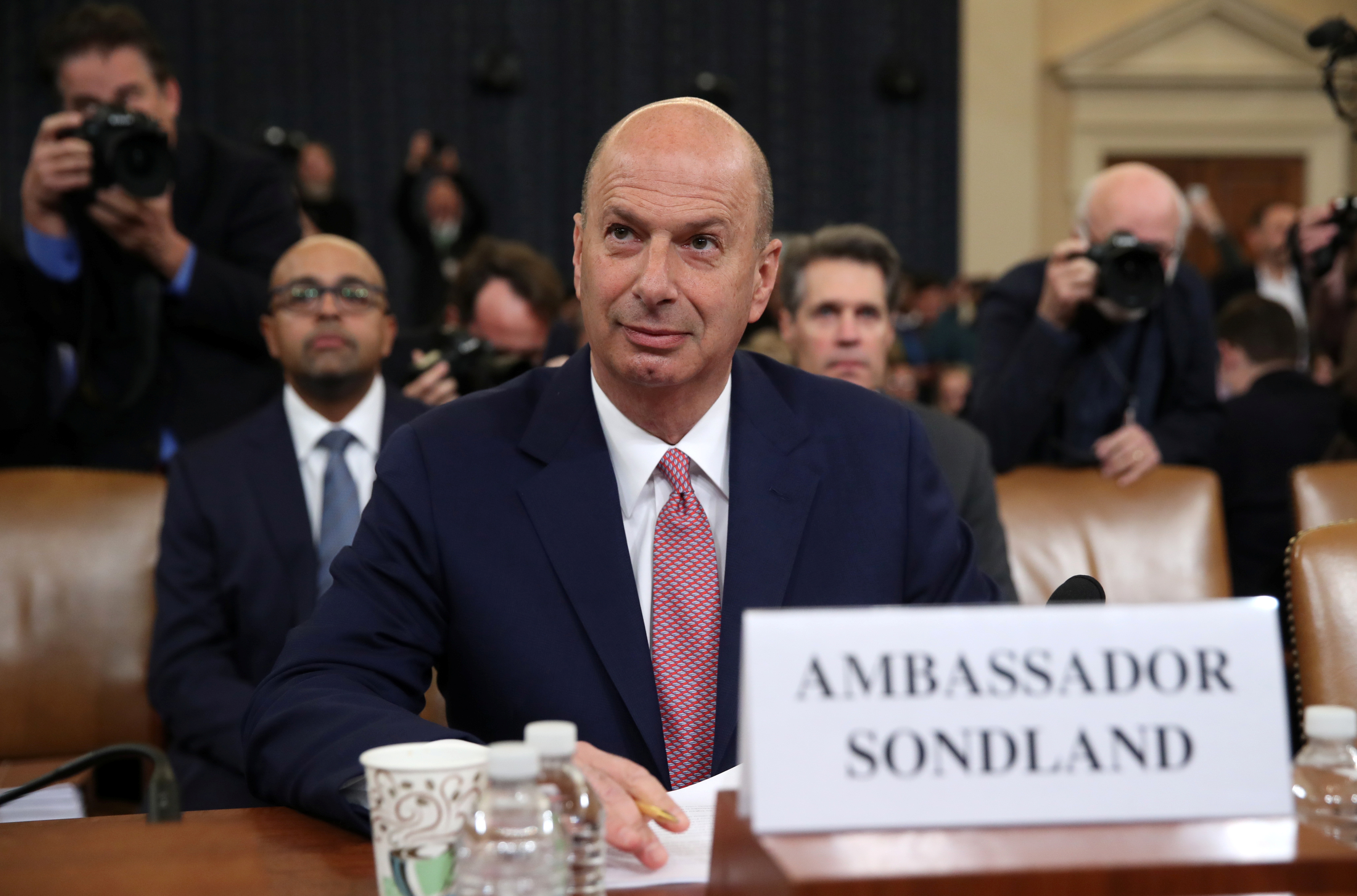 Sondland Testifies He Had Not Been Told Trump Linked Ukraine Aid to Biden Investigations