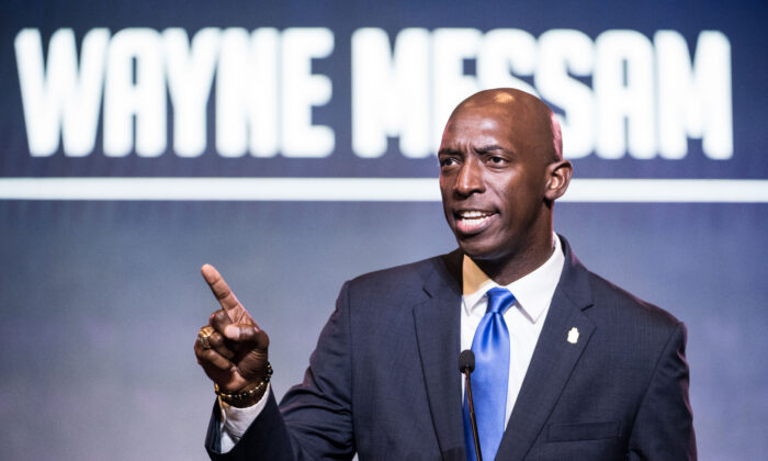 Miramar, Florida Mayor Wayne Messam speaks to the crowd during the 2019 South Carolina Democratic Party State Convention in Columbia, South Carolina on June 22, 2019. (Photo by Sean Rayford/Getty Images)