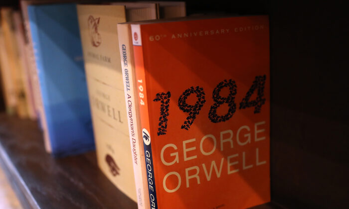 """""""1984,"""" a book every high schooler should read. (Justin Sullivan/Getty Images)"""
