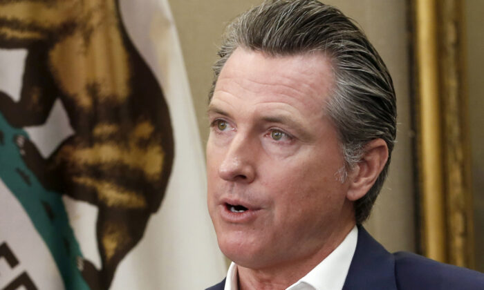 California Gov. Gavin Newsom during an interview in his office at the Capitol in Sacramento, Calif., on Oct. 8, 2019. (Rich Pedroncelli/AP Photo)