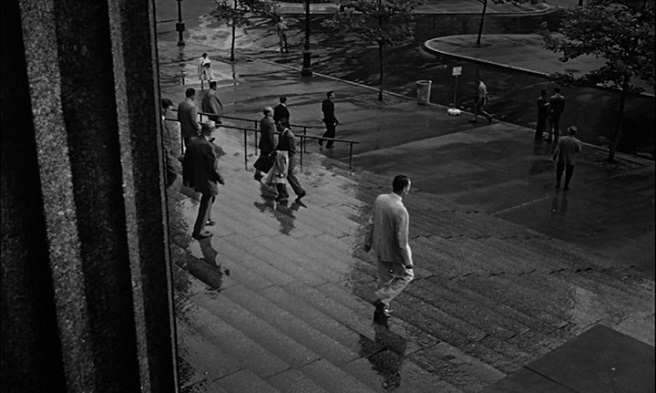 men walking down the courthouse steps
