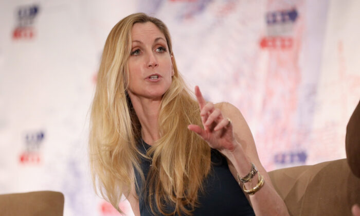 Ann Coulter speaks onstage during Politicon 2018 at Los Angeles Convention Center in Los Angeles, California on Oct. 20, 2018. (Rich Polk/Getty Images for Politicon)