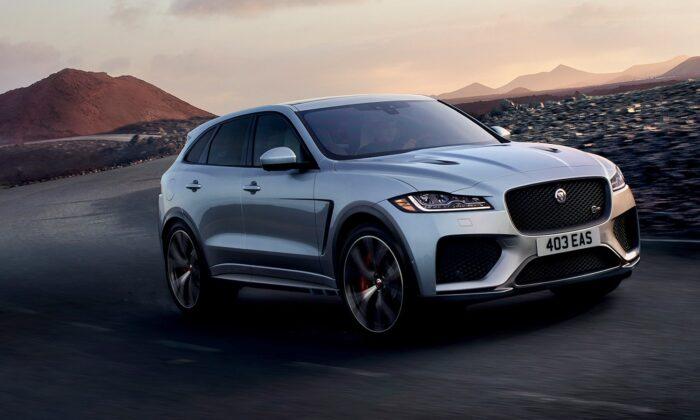 2019 Jaguar F-Pace SVR. (Courtesy of Jaguar)